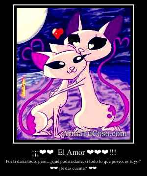 ¡¡¡❤❤  El Amor ❤❤❤!!!