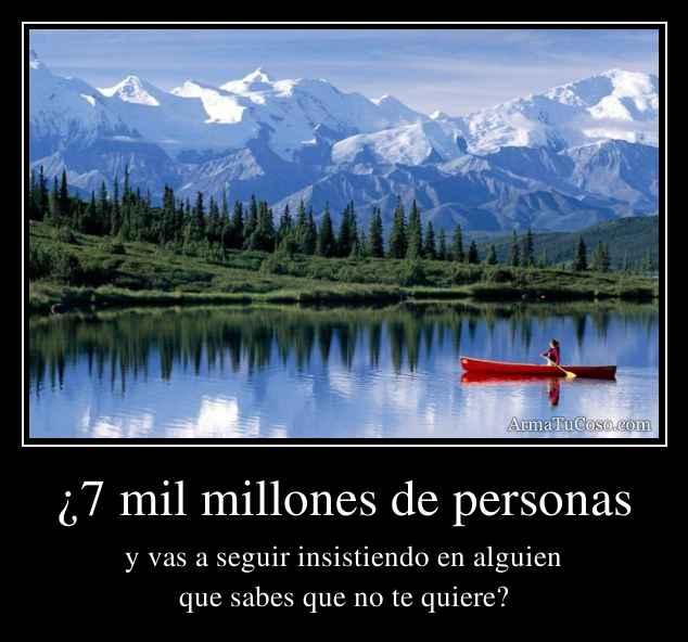 ¿7 mil millones de personas