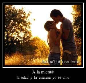 A la mier##