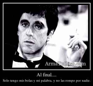 Al final....
