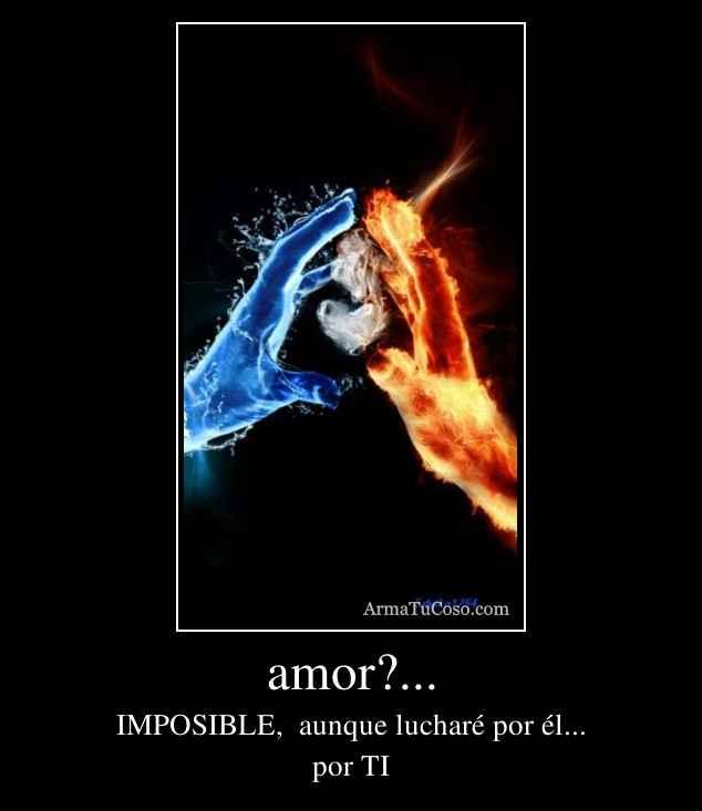 amor?...