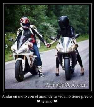Andar en moto con el amor de tu vida no tiene precio