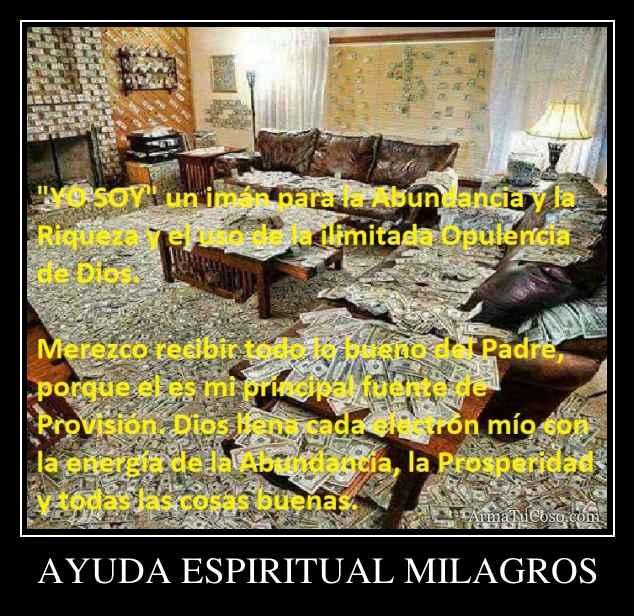 AYUDA ESPIRITUAL MILAGROS