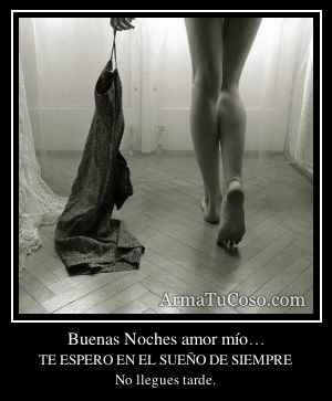 Buenas Noches amor mío…