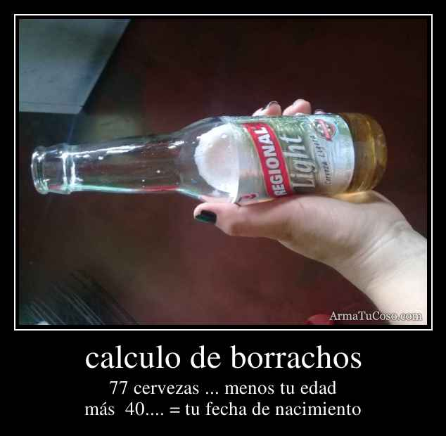 calculo de borrachos