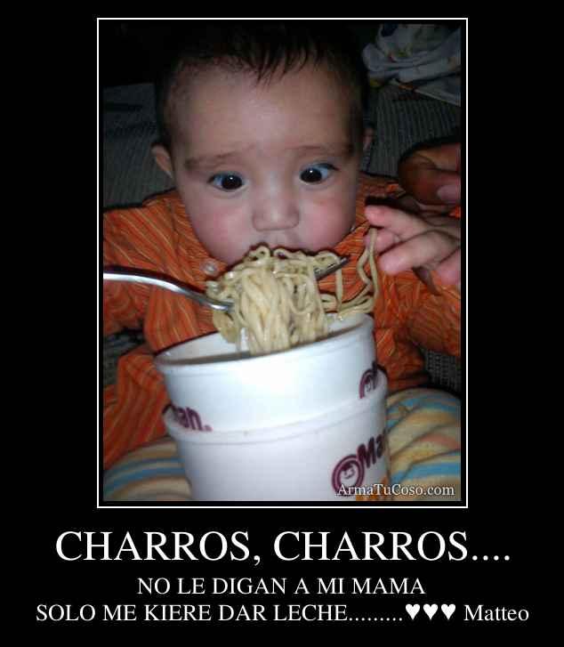 CHARROS, CHARROS....