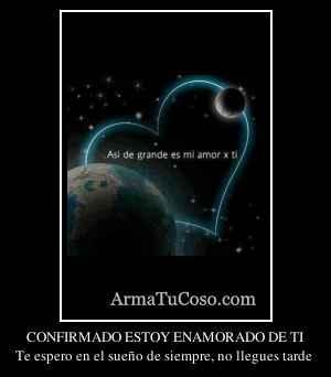 CONFIRMADO ESTOY ENAMORADO DE TI
