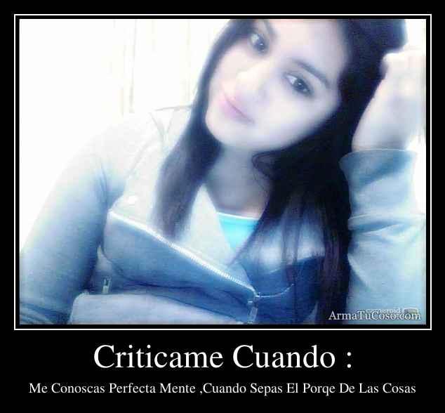 Criticame Cuando :