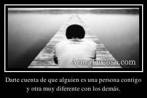 Darte cuenta de que alguien es una persona contigo