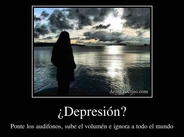 ¿Depresión?
