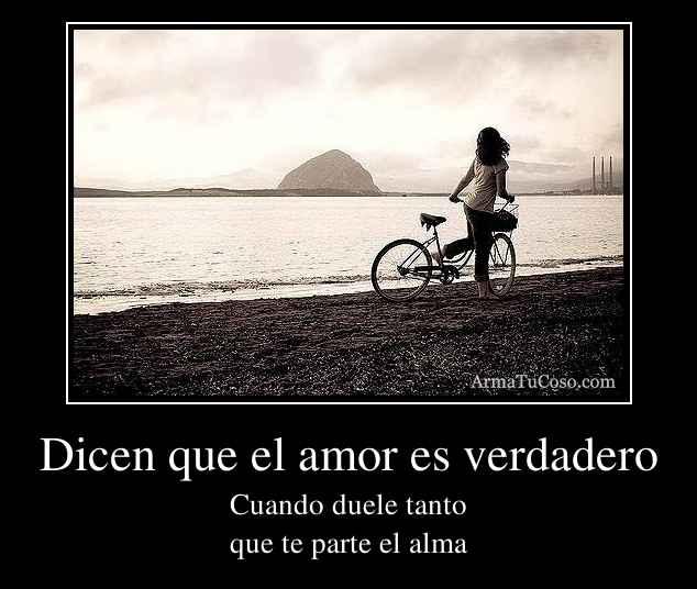 Dicen que el amor es verdadero