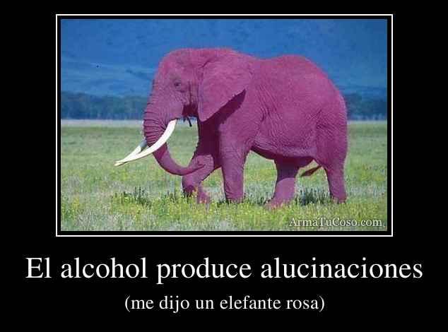 El alcohol produce alucinaciones