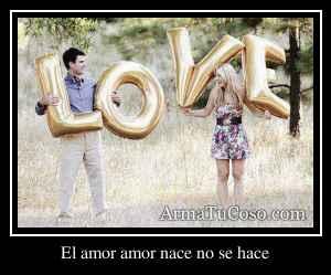 El amor amor nace no se hace