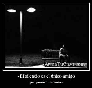 ~El silencio es el único amigo