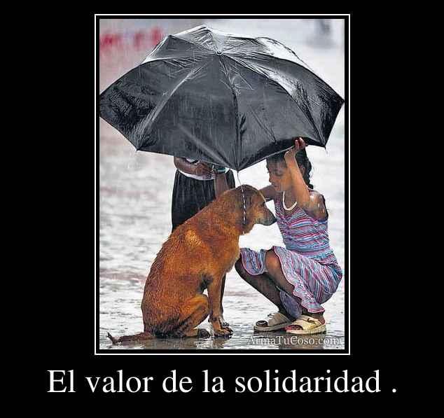 El valor de la solidaridad .