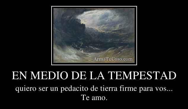 EN MEDIO DE LA TEMPESTAD