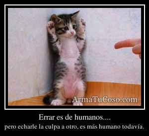 Errar es de humanos....