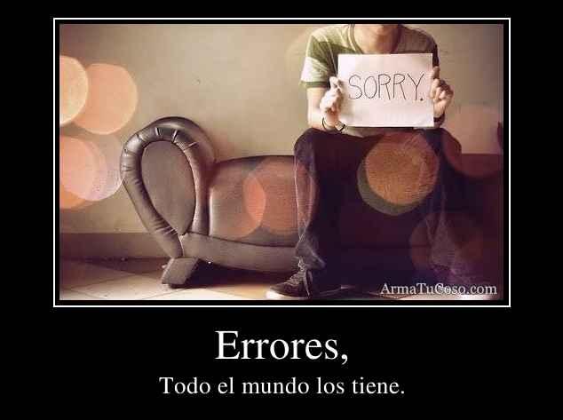 Errores,