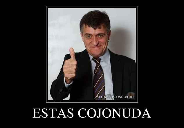ESTAS COJONUDA