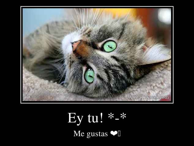 Ey tu! *-*
