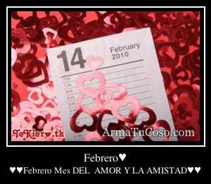 Febrero♥