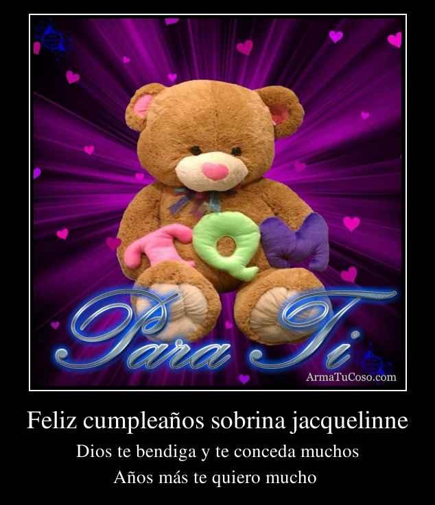 Feliz cumpleaños sobrina jacquelinne