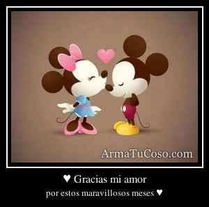 ♥ Gracias mi amor