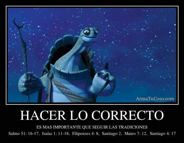 HACER LO CORRECTO