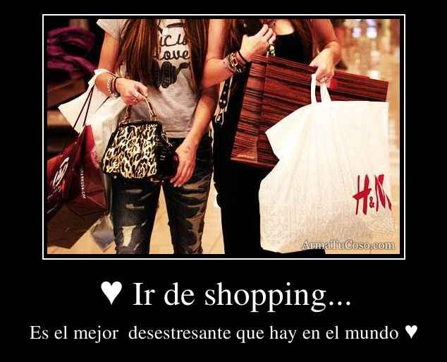 ♥ Ir de shopping...