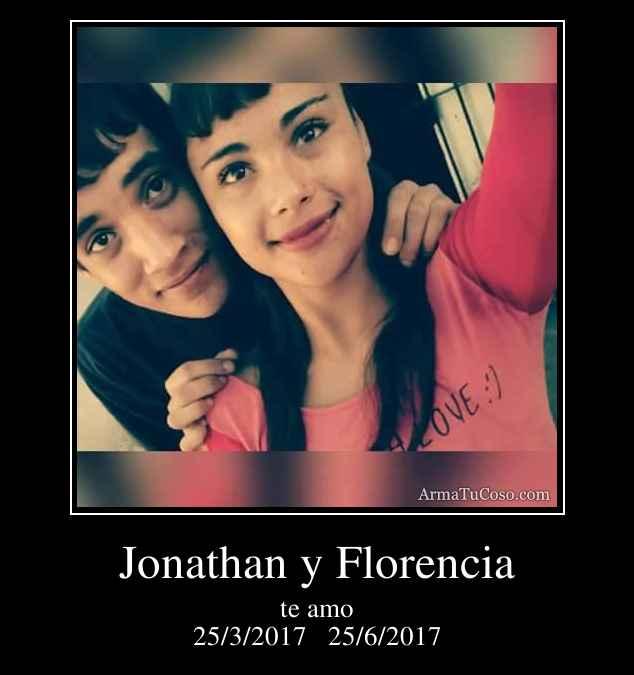 Jonathan y Florencia