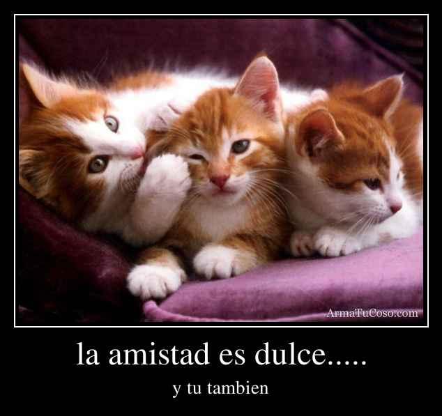 la amistad es dulce.....