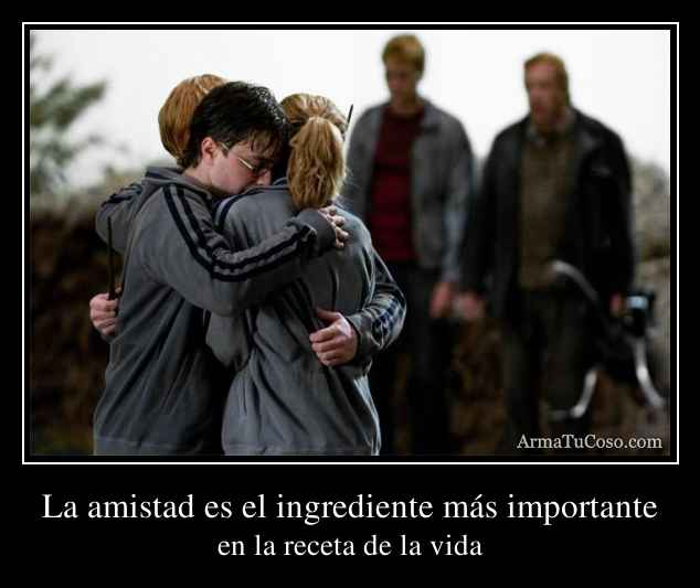 La amistad es el ingrediente más importante