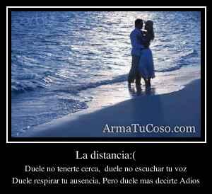La distancia:(