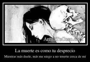 La muerte es como tu desprecio