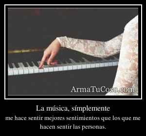 La música, símplemente