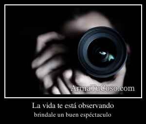 La vida te está observando