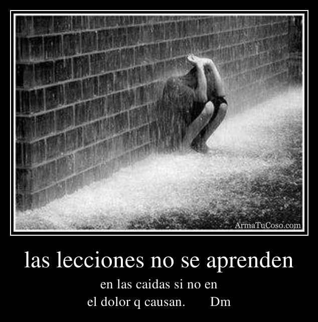las lecciones no se aprenden