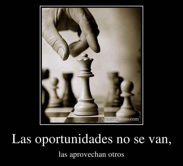 Las oportunidades no se van,
