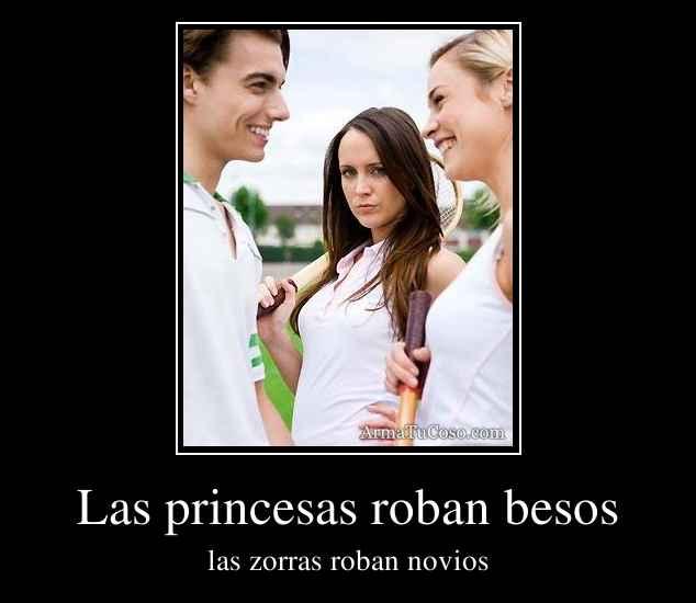 Las princesas roban besos
