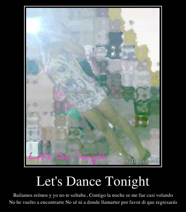 Let's Dance Tonight