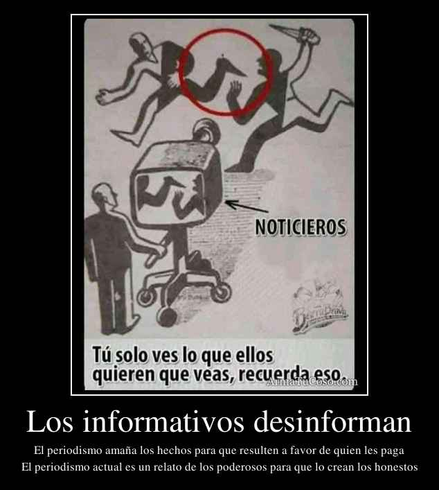 Los informativos desinforman