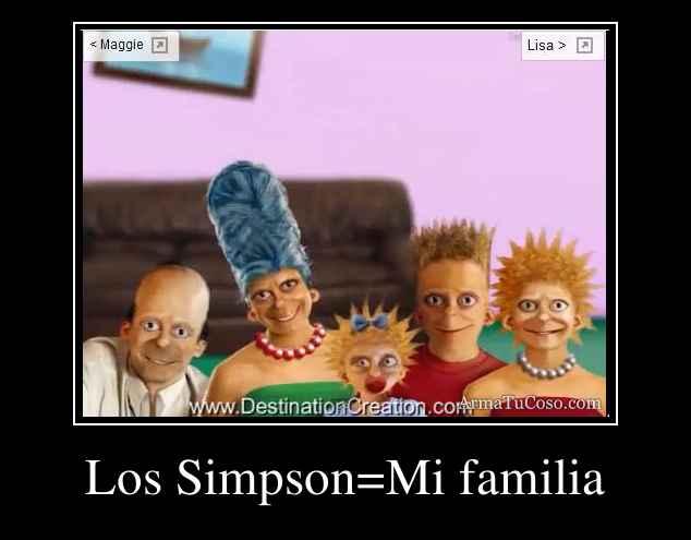 Los Simpson=Mi familia