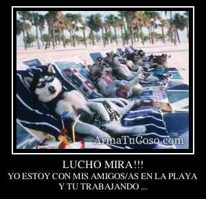 LUCHO MIRA!!!