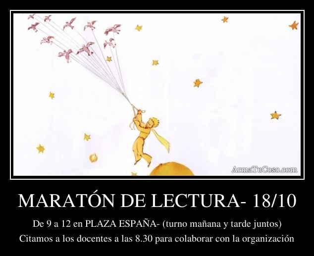 MARATÓN DE LECTURA- 18/10