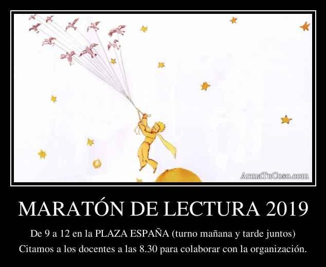 MARATÓN DE LECTURA 2019