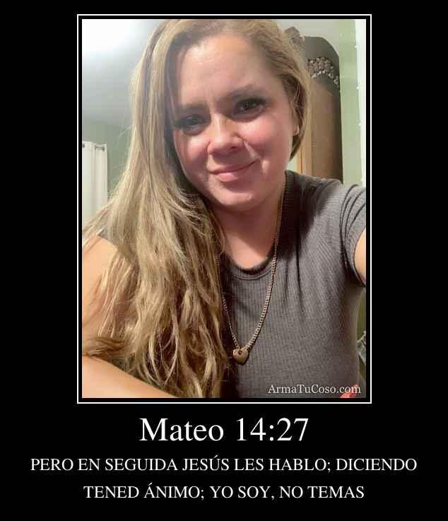 Mateo 14:27