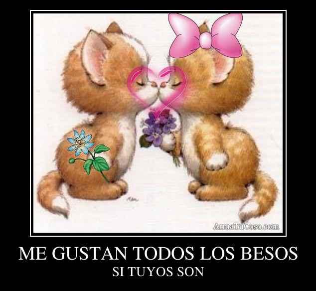 ME GUSTAN TODOS LOS BESOS