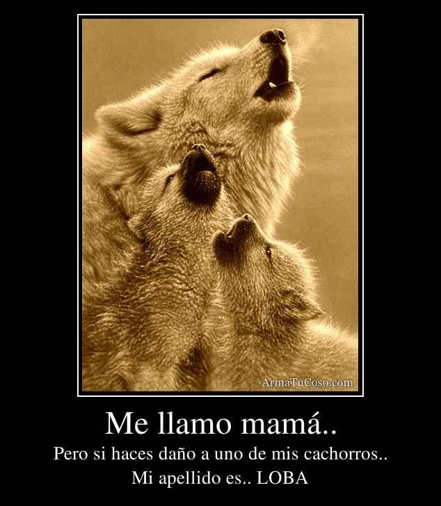 Me llamo mamá..