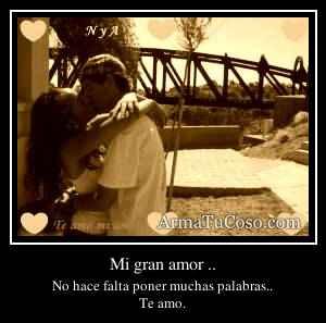 Mi gran amor ..