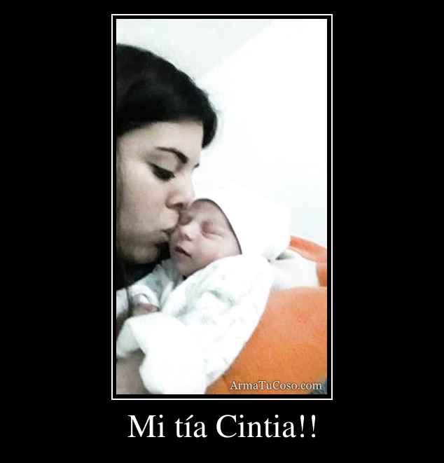 Mi tía Cintia!!